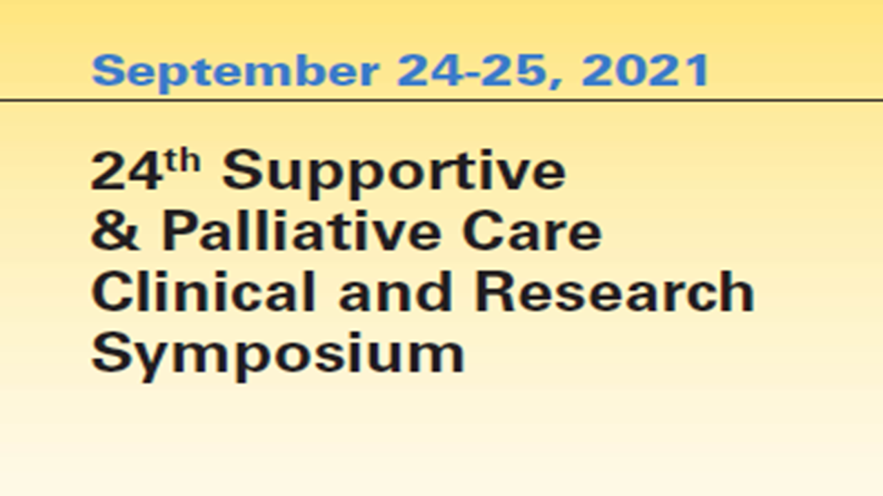 24th Supportive & Palliative Care Clinical and Research Symposium Banner